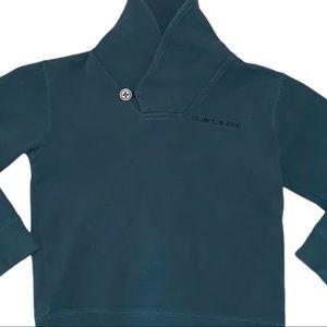2/$40 Calvin Klein Boys Green Sweatshirt Hoodie